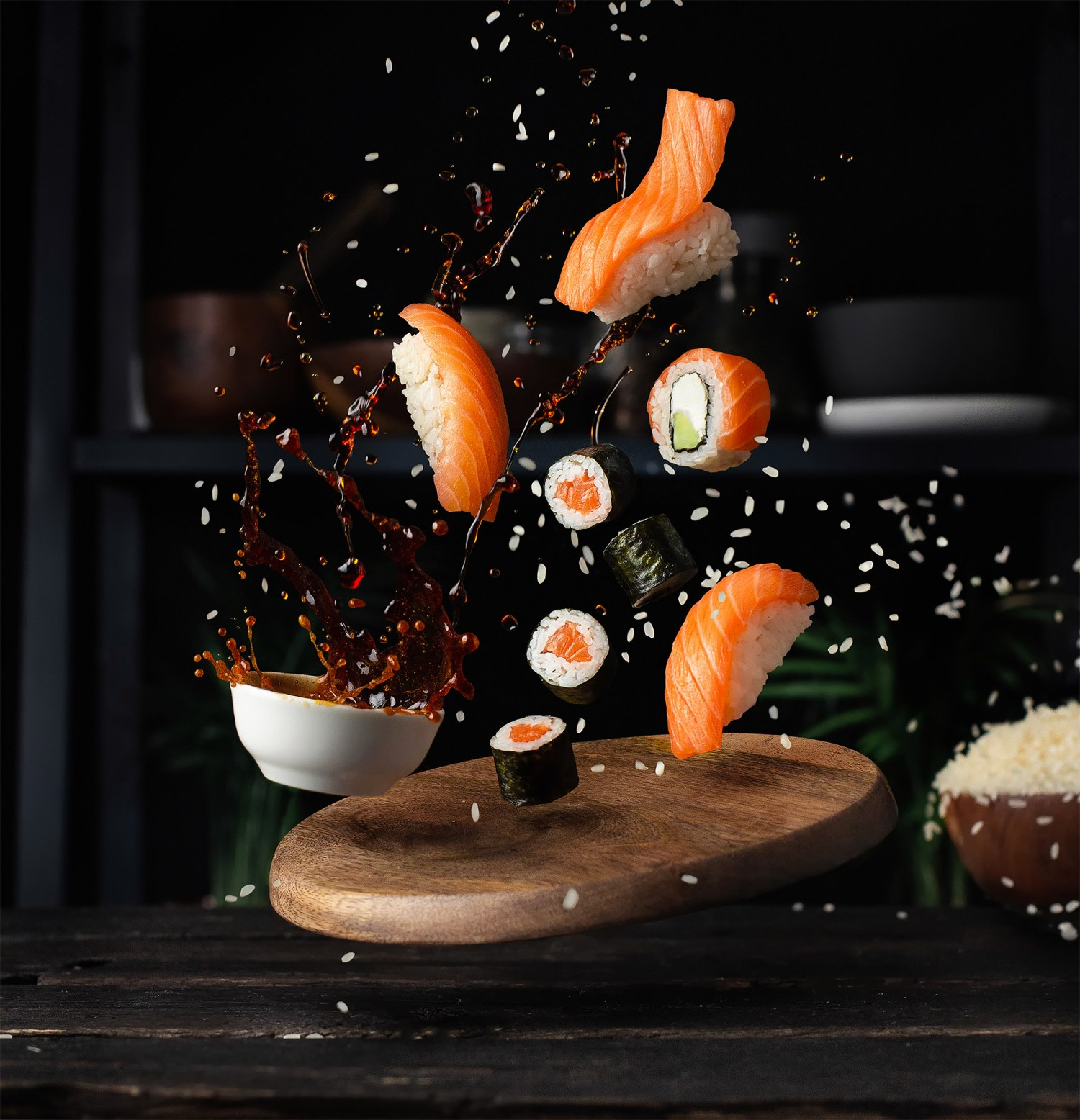 creative food photography ideas sushi by pavel sablya
