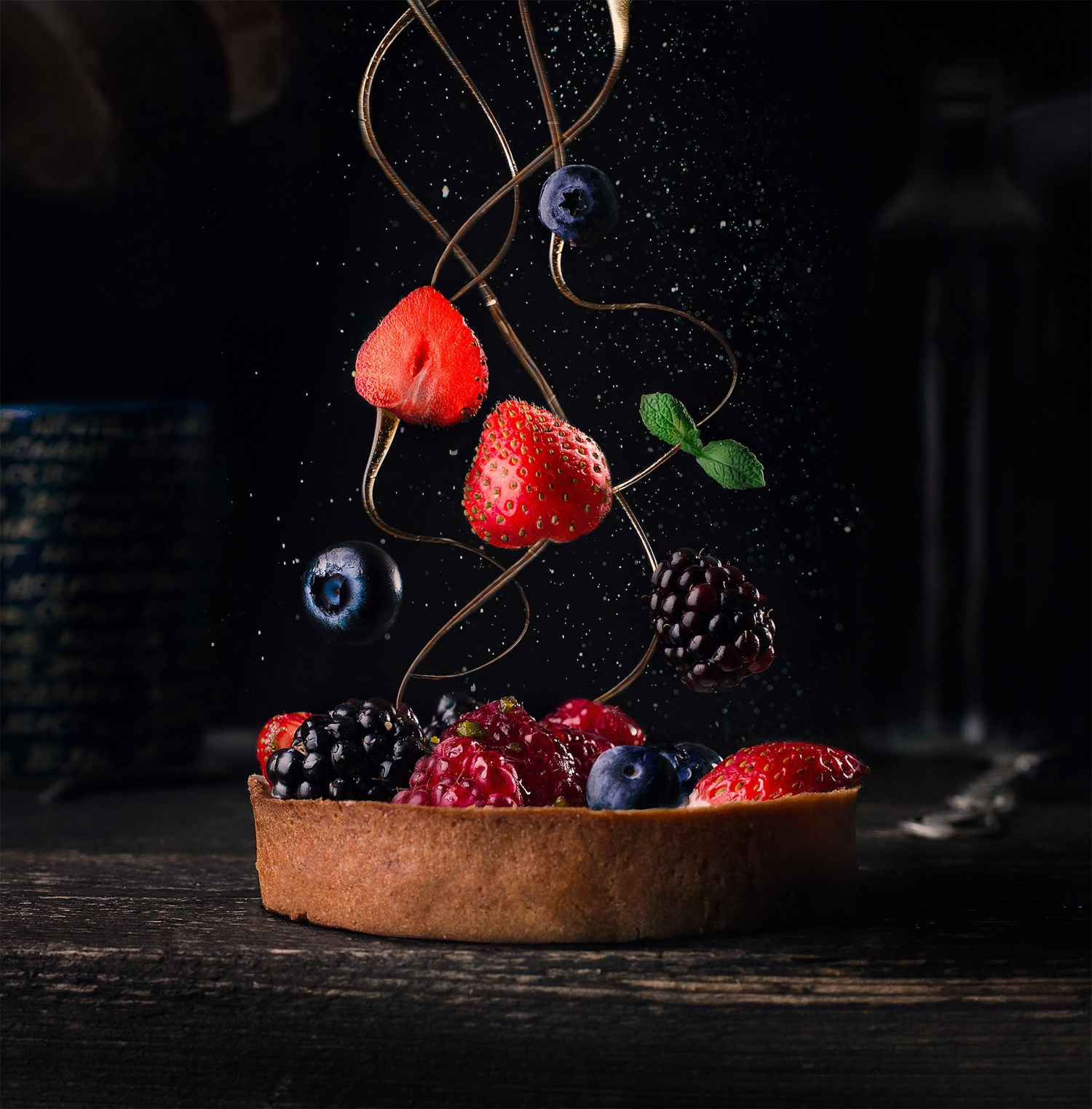 creative food photography ideas berries by pavel sablya
