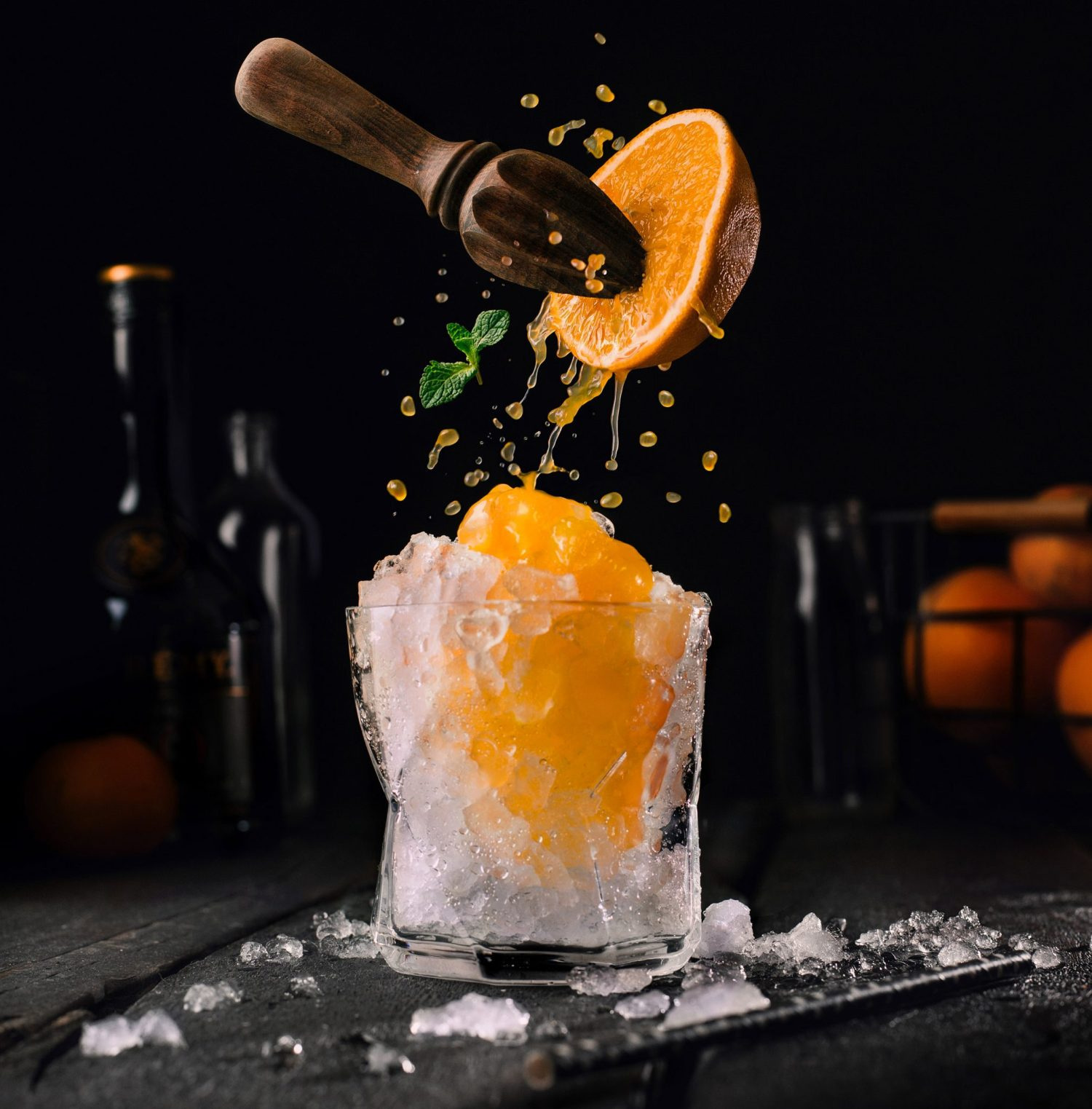 creative food photography ideas orange juice by pavel sablya