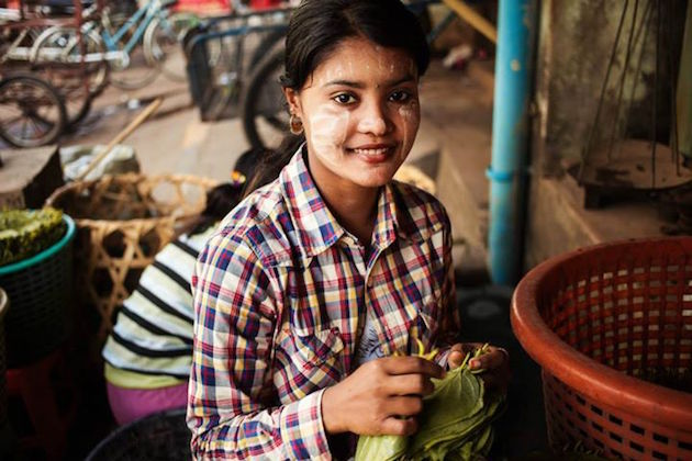 myanmar woman by mihaela noroc