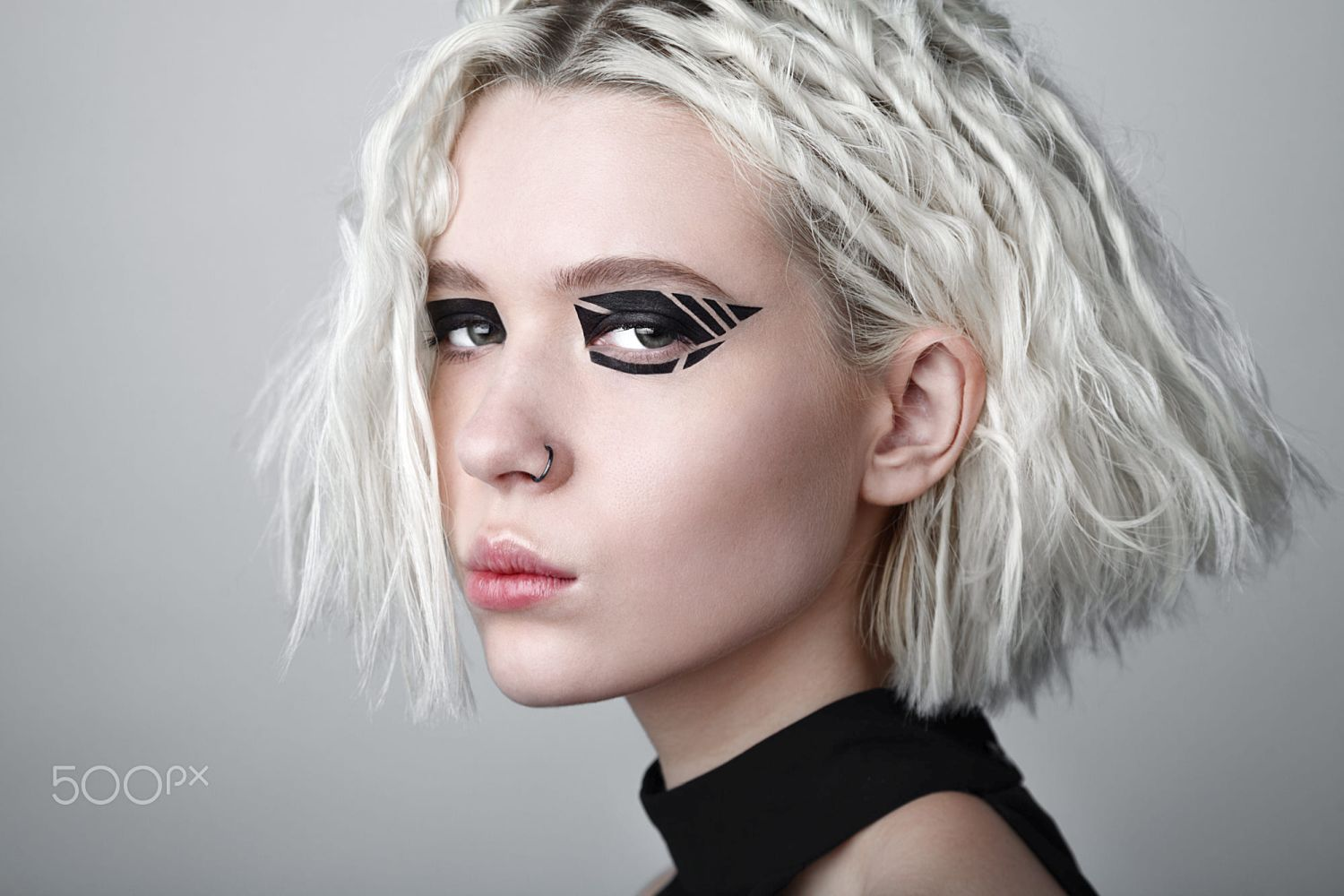 beauty photography black graphic makeup by vicky random