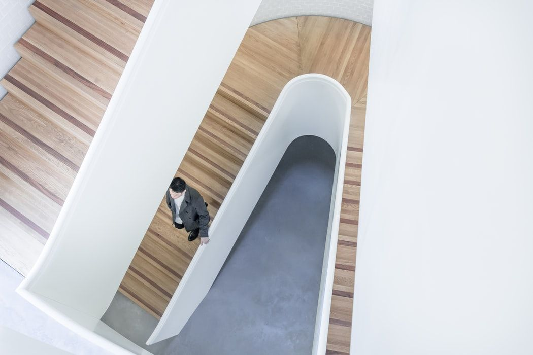 minimalist photography abstract man stairs by raphael koh