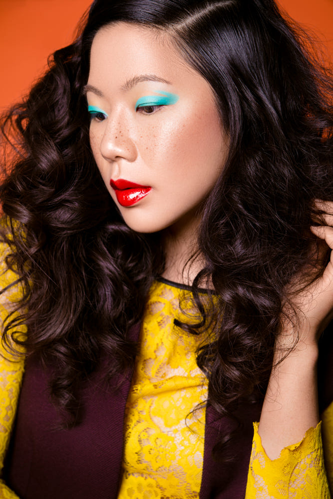 makeup beauty photography gold teal by angela perez