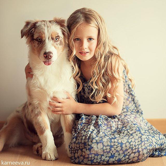 dog kid photography by elena karneeva