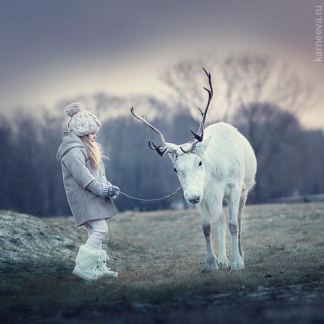 8 deer kid photography by elena karneeva