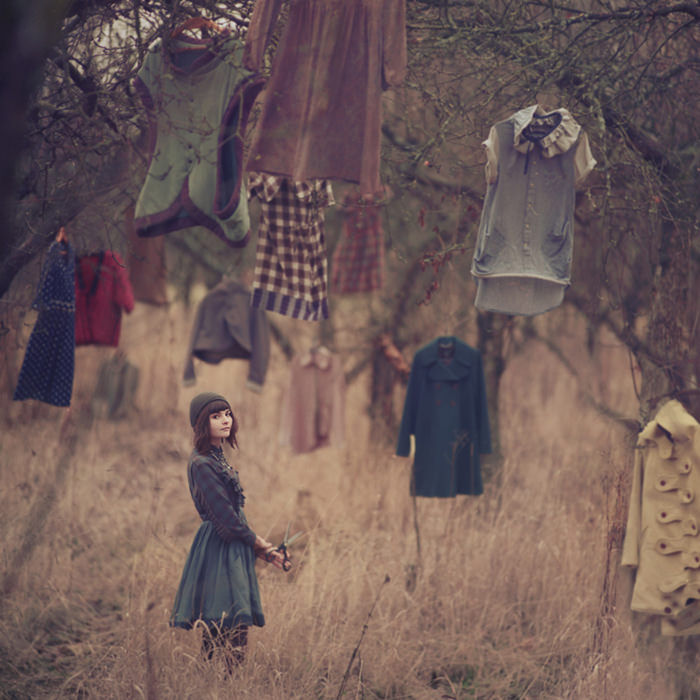 fineart photography hanging clothes by oleg opriso