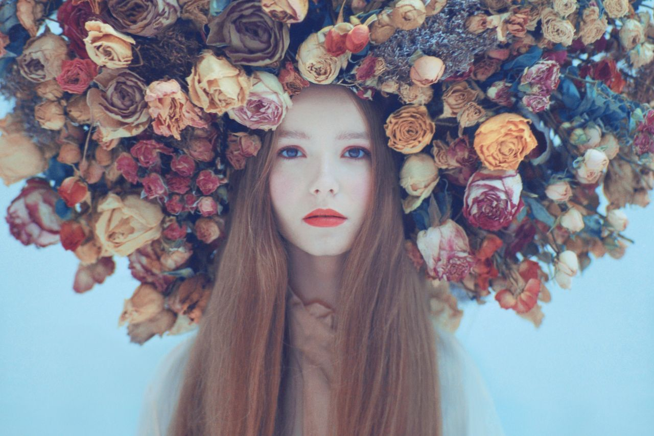 fineart photography flower girl by oleg opriso