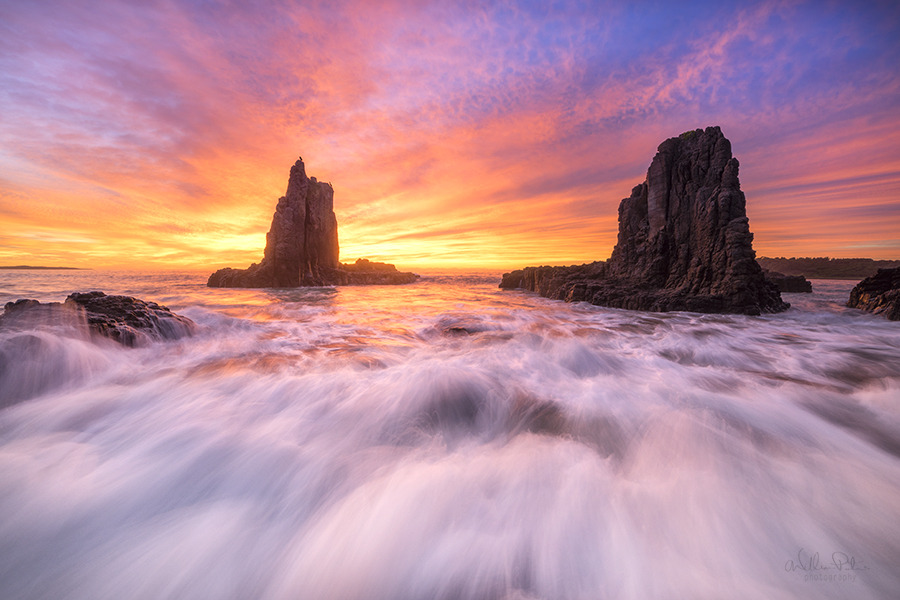 kiama cathedral rocks photography by william patino
