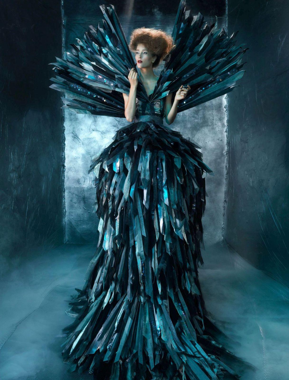 fashion photography dress by sandrine michael