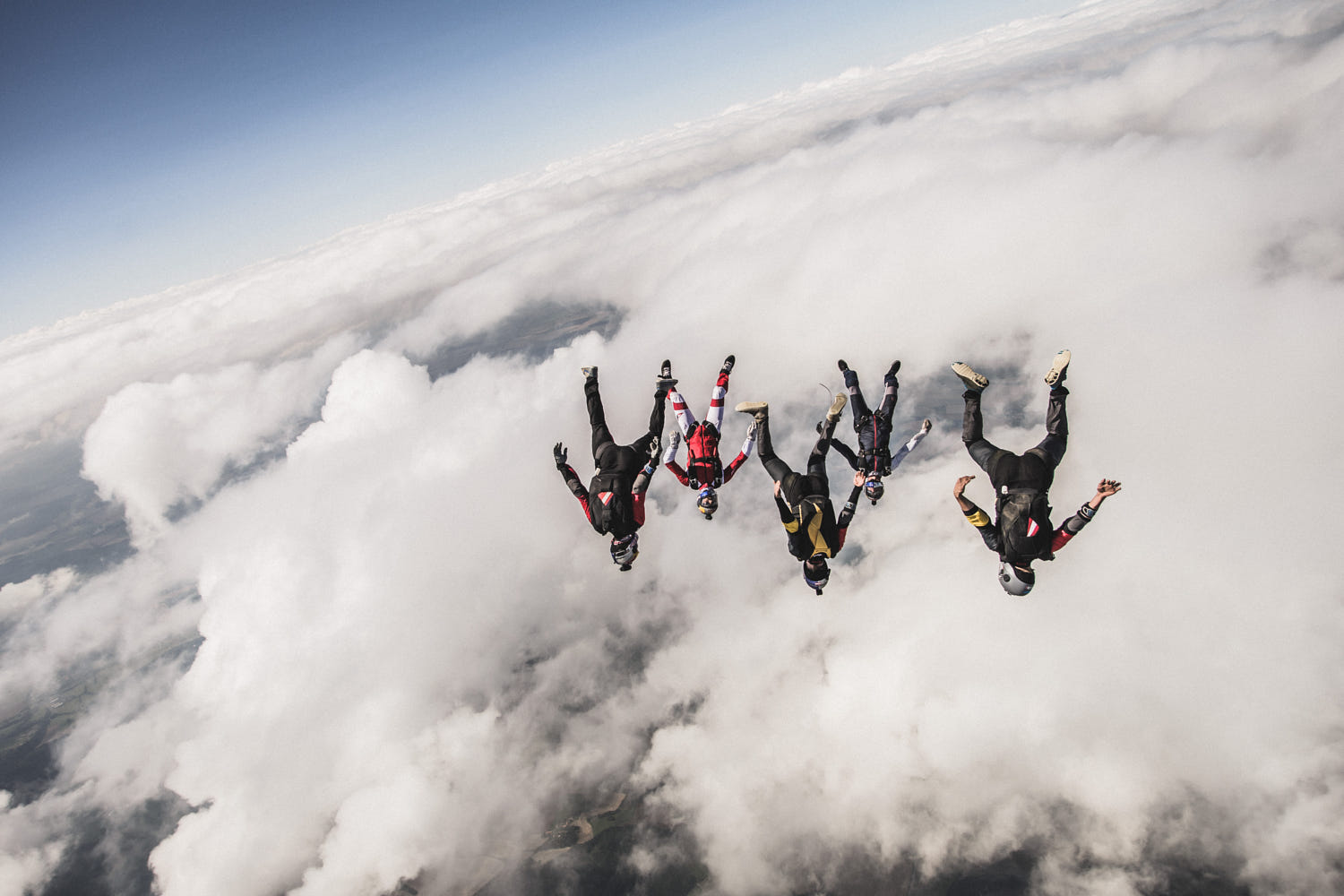 stunning photo skydiving by wolfgang lienbacher