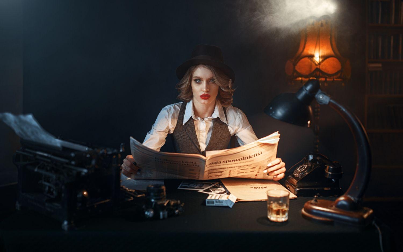 fashion photography detective by maks kuzin
