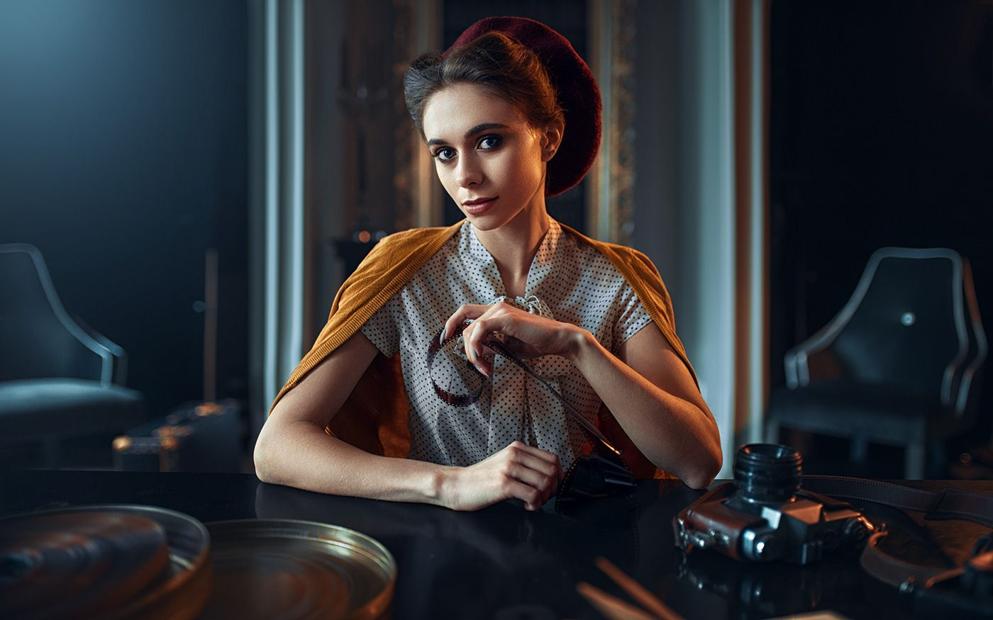fashion photography retro styled by maks kuzin