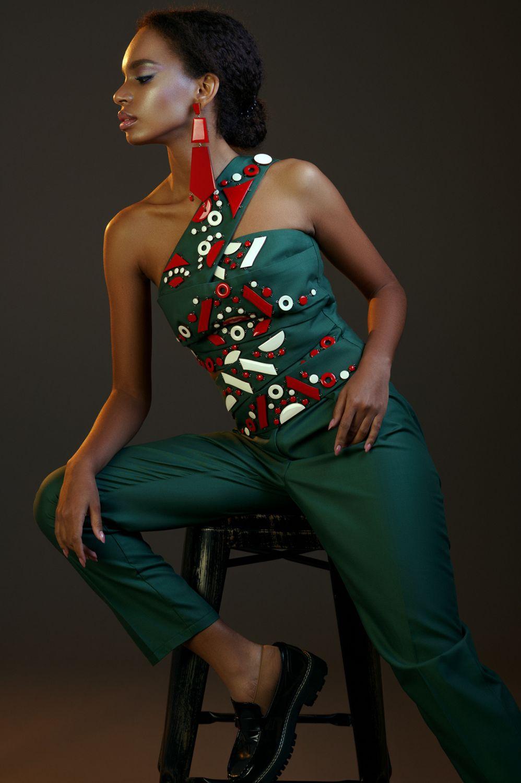fashion photography green wonder by maks kuzin