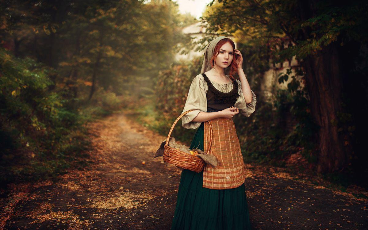 fashion photography forest maid by maks kuzin
