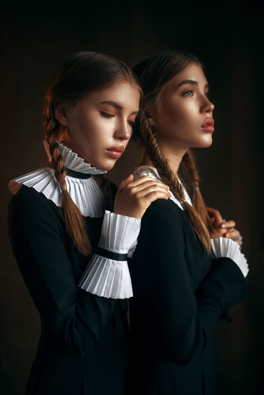 fashion photography sisters by maks kuzin