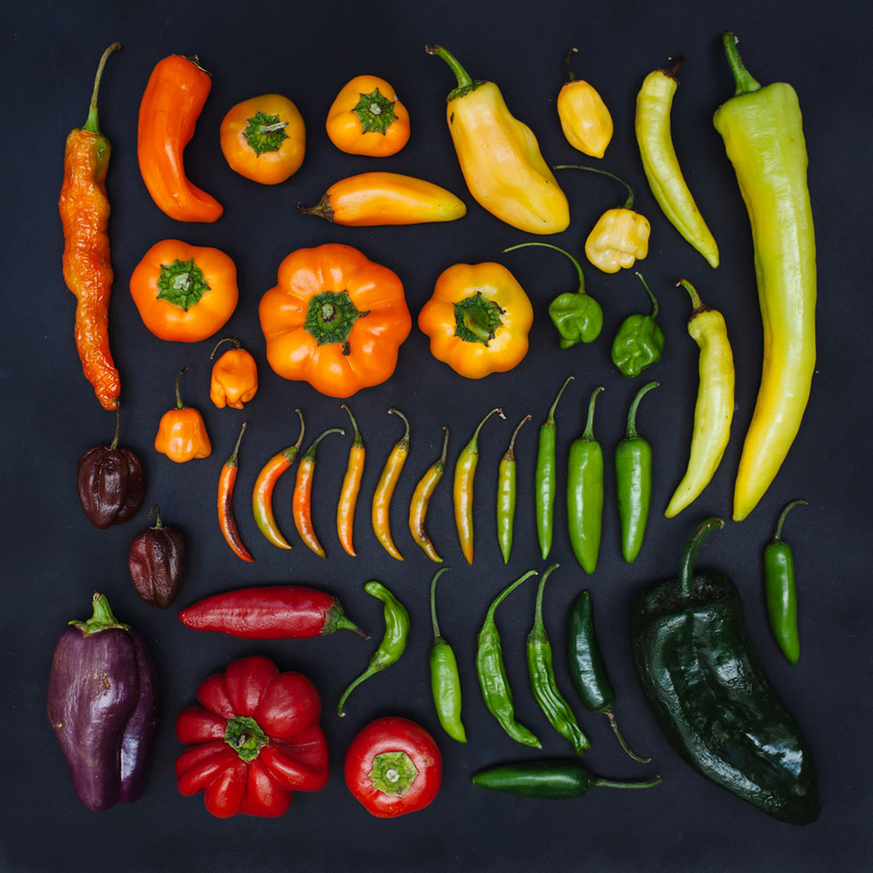 11 arrange objects photography idea peppers emily blincoe