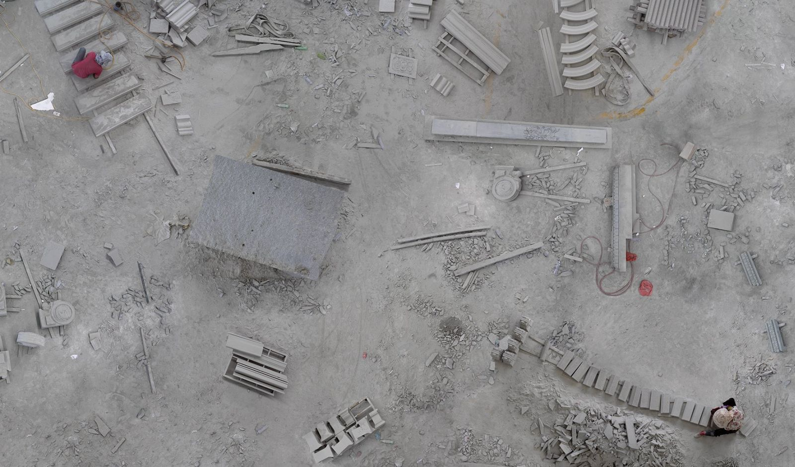 aerial photography building site by katrin korfmann