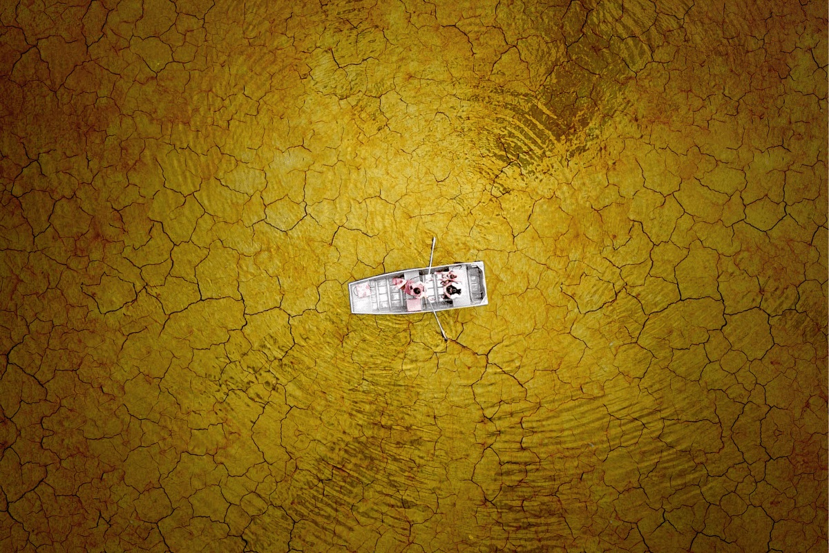 aerial drone photography cracked mud boating milo allerton