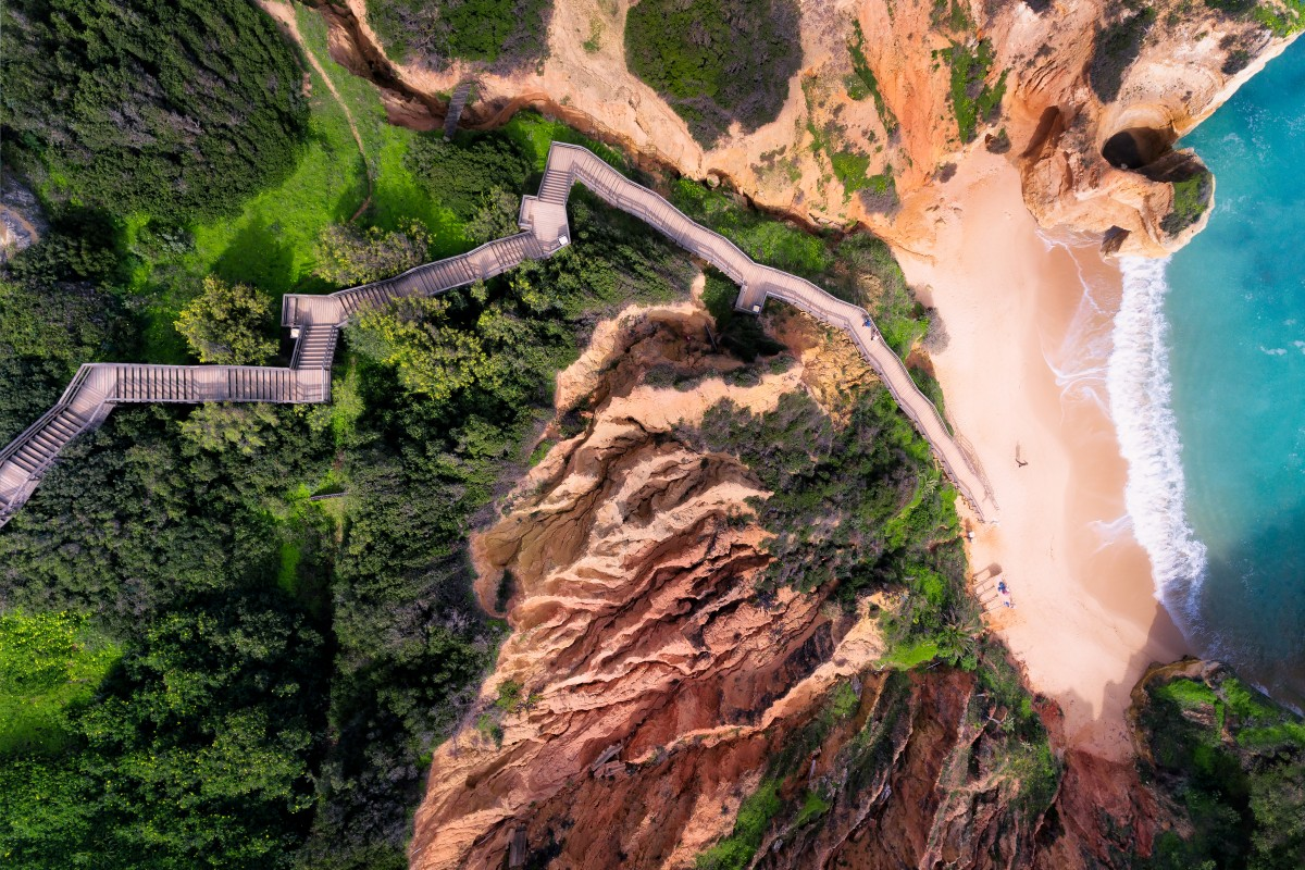 aerial drone photography stairway jcourtial