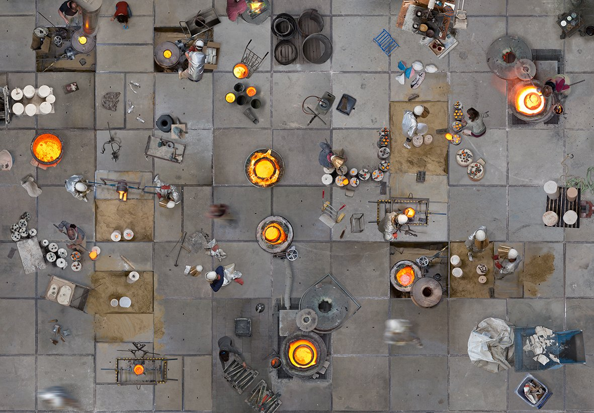 aerial photography melting industry by katrin korfmann