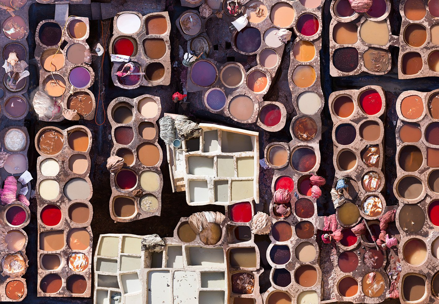 aerial photography color dye by katrin korfmann