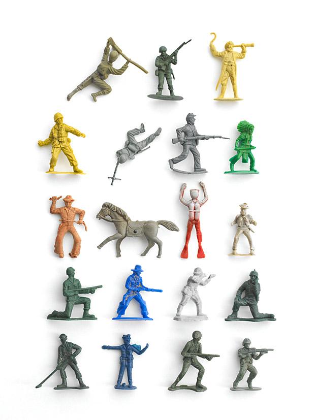 photography idea arrange scrap plastic toys