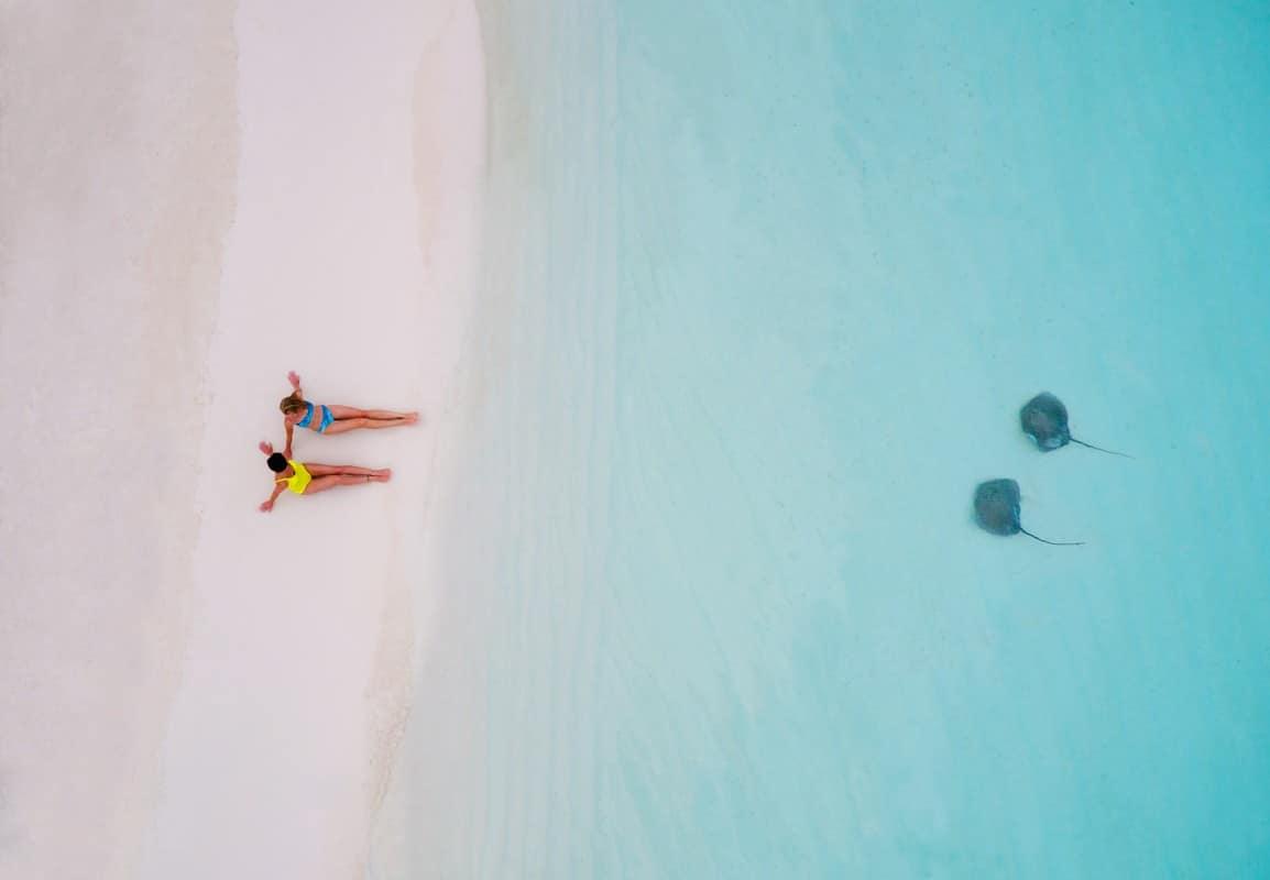 aerial drone photography stingray girls tahitiyflyshoot