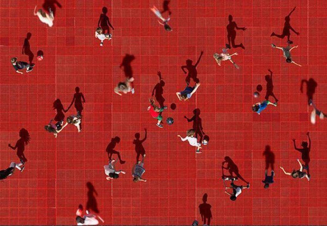 aerial photography soccer by katrin korfmann