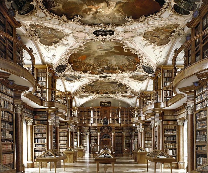 photography baroque architecture library saint gall by massimo listri