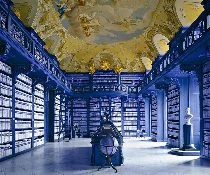 photography seitenstetten abbey library by massimo listri