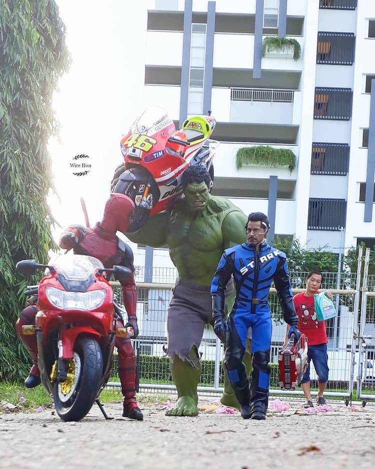 7 forced persepective photography hulk team by wire hon