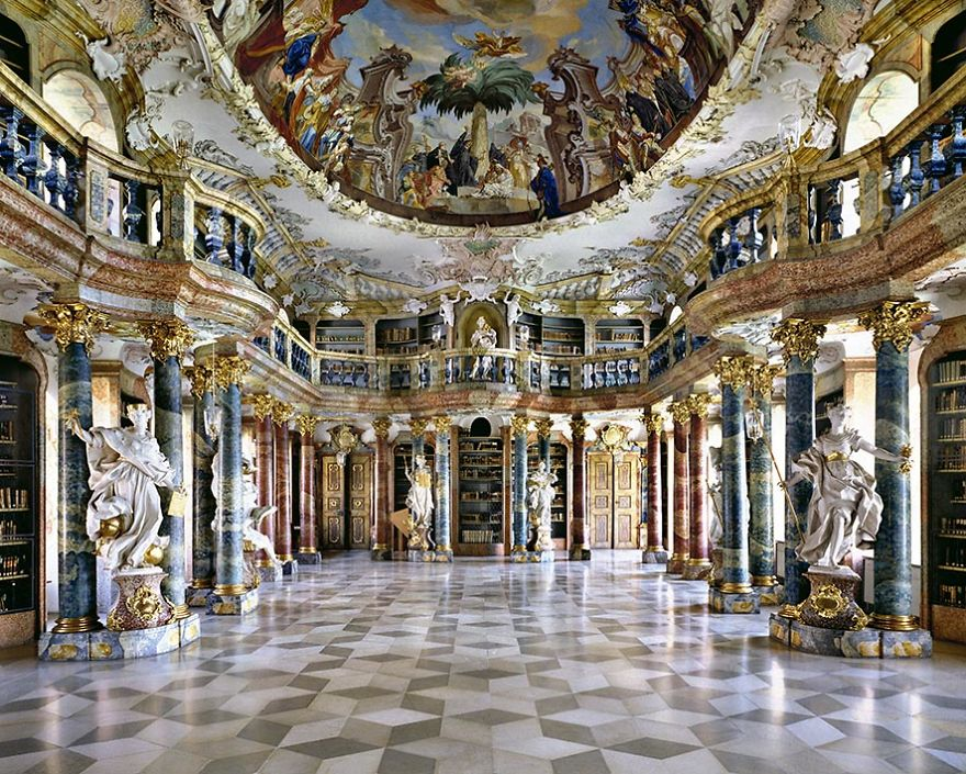 photography wiblingen abbey library by massimo listri