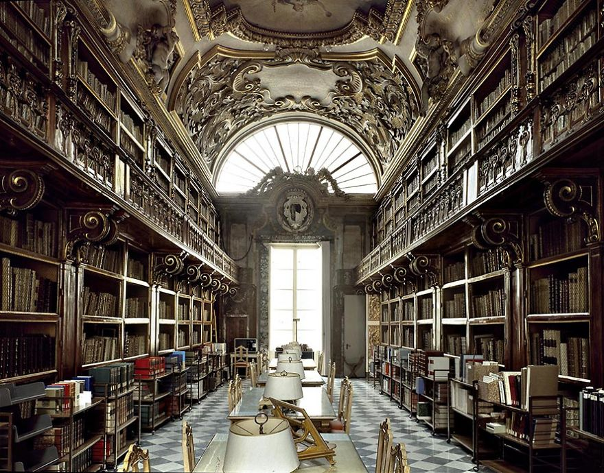 photography sainte riccardian library by massimo listri