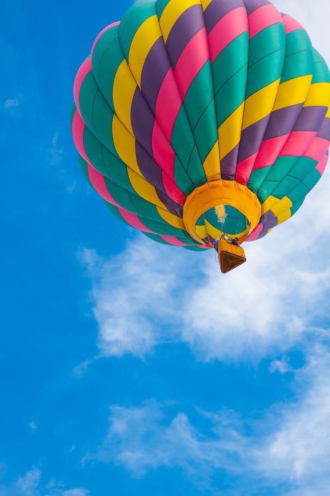 photography hot air balloon by steven green
