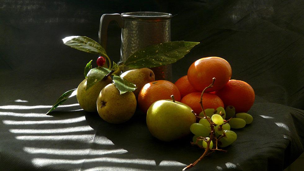 10 fruits still life photography