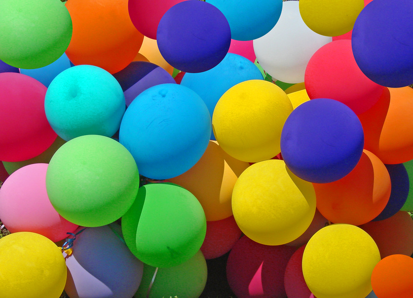 13 balloons colorful photography