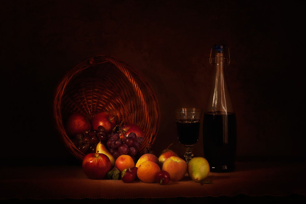 24 fruits still life photography