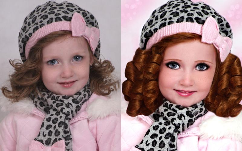 girl photo retouching -  3