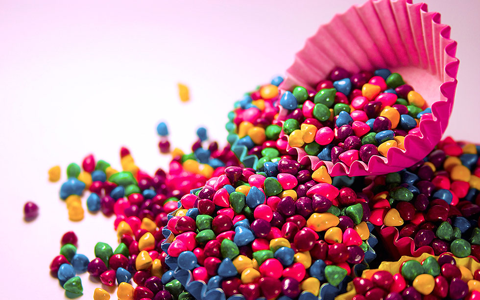 4 candies colorful photography