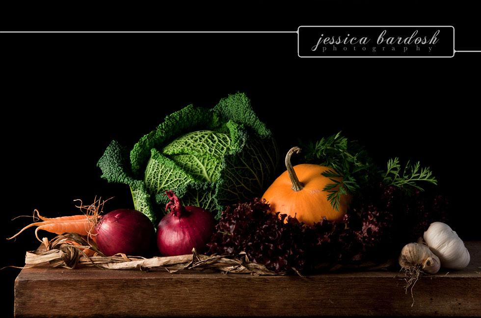 8 vegetables still life photography
