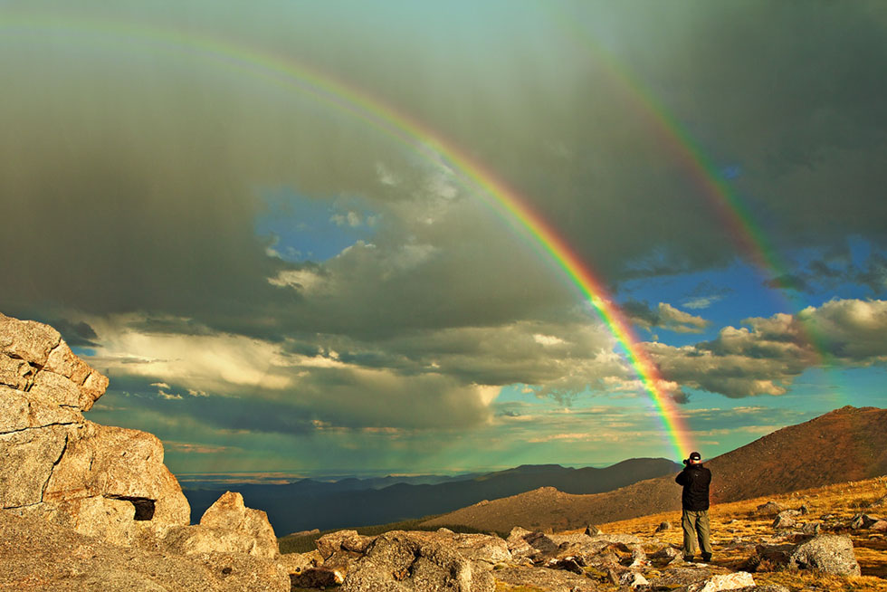 double rainbow photography