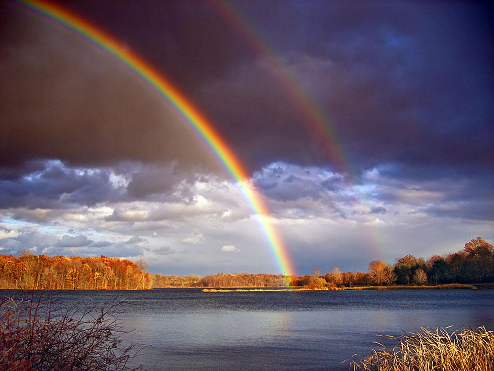rainbow photography river