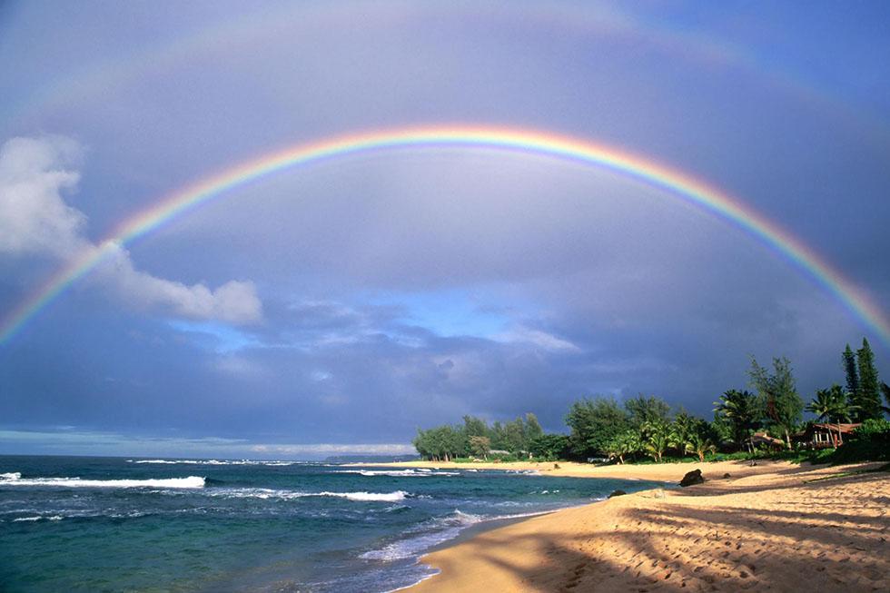 sea rainbow photography