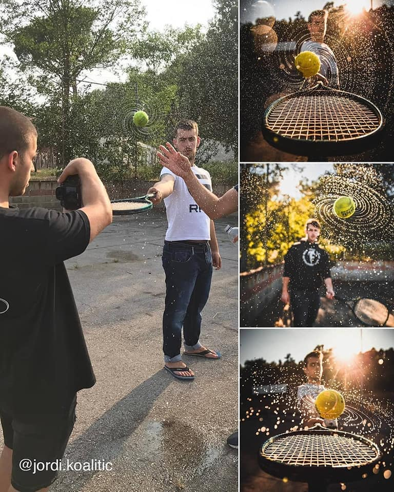 photography idea tennis ball