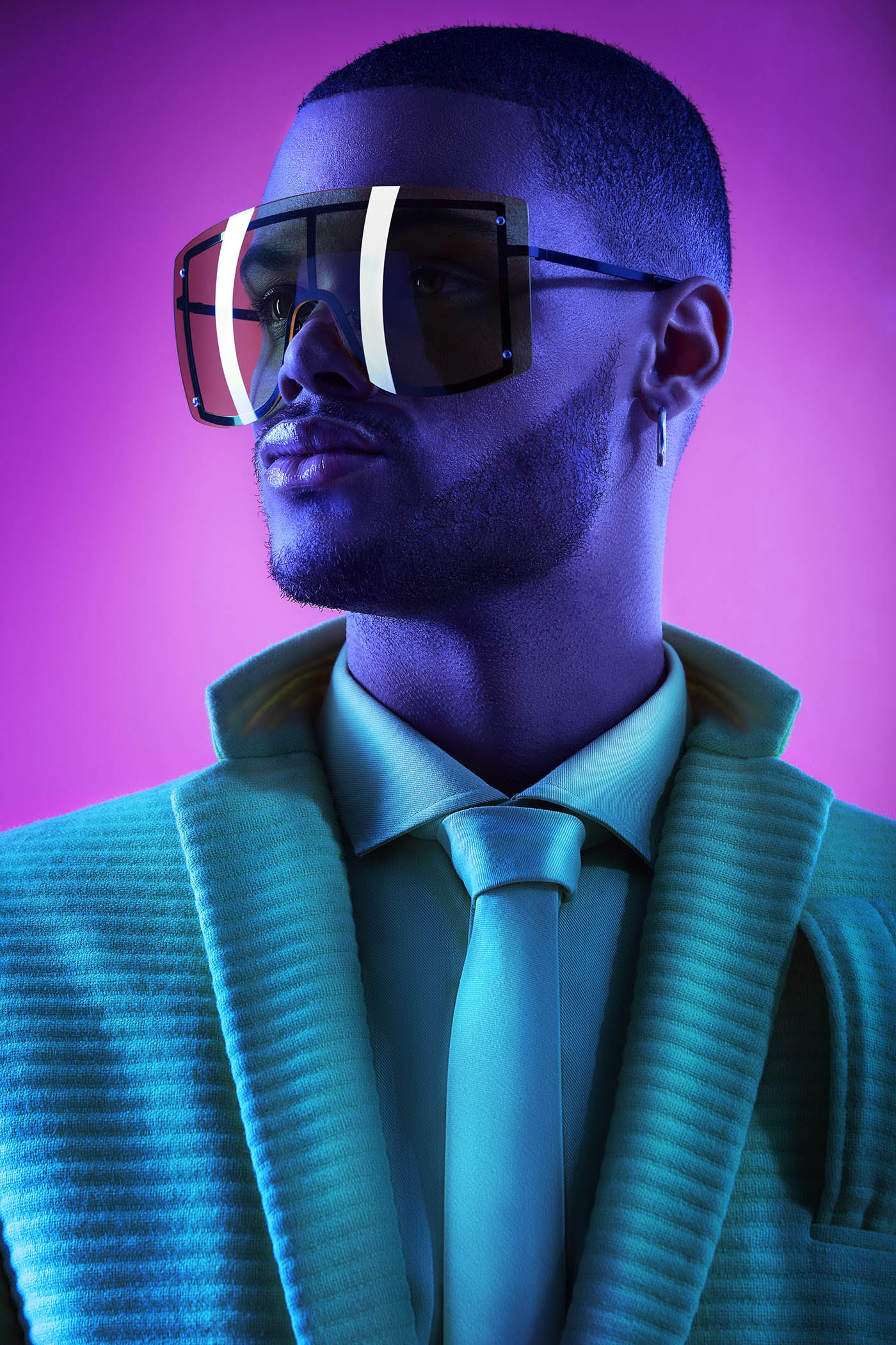 fashion photography man blue by luciano koenig dupont