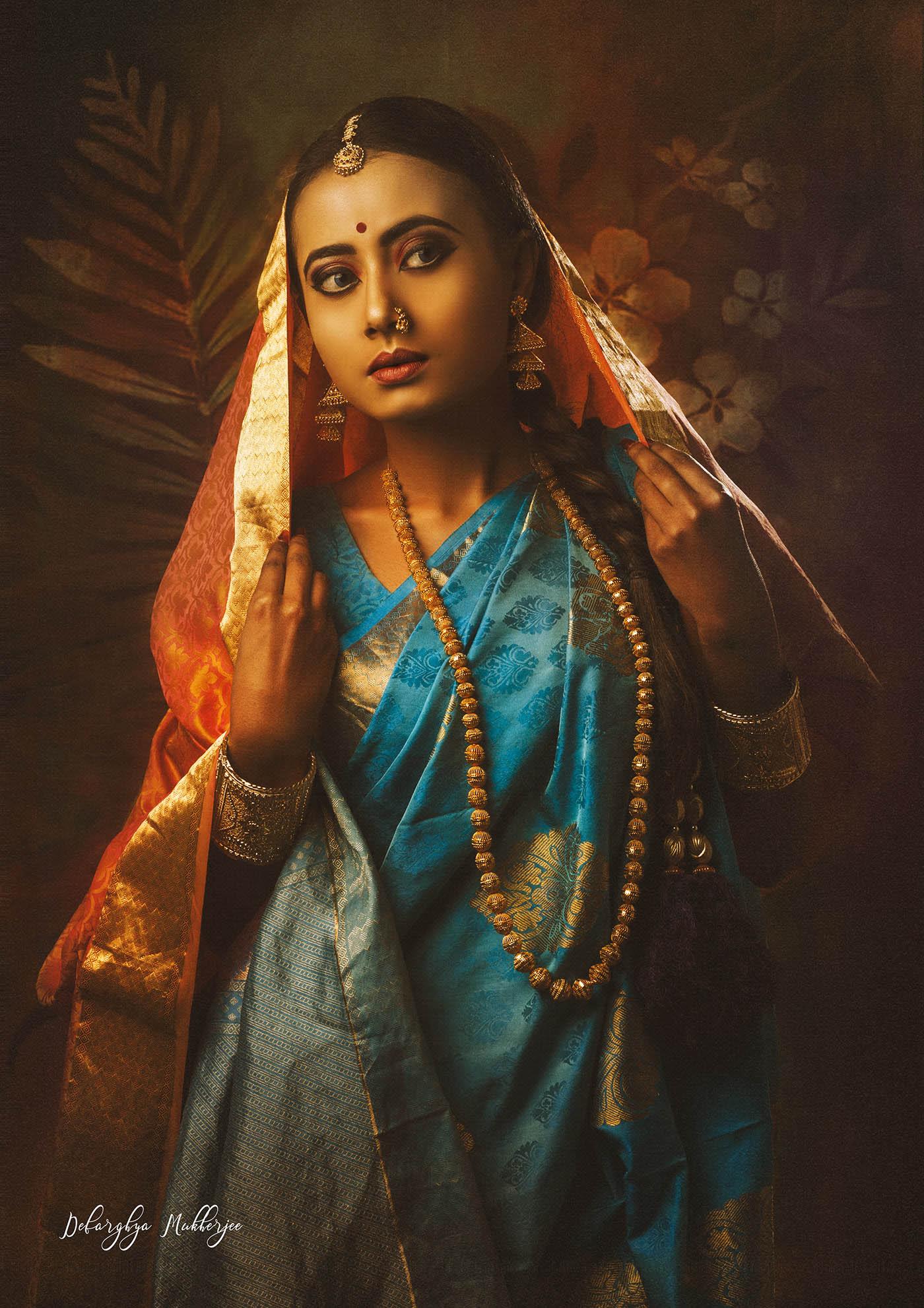portrait photography indian lady