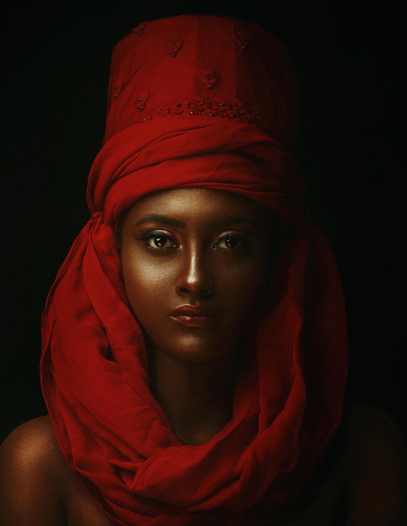 portrait photography red tone by debarghya mukherjee