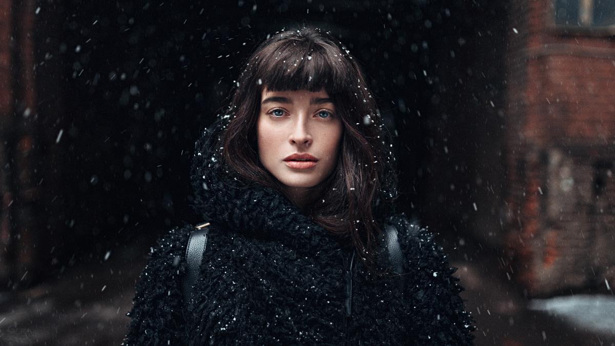 portrait photography winter by georgy chernyadyev