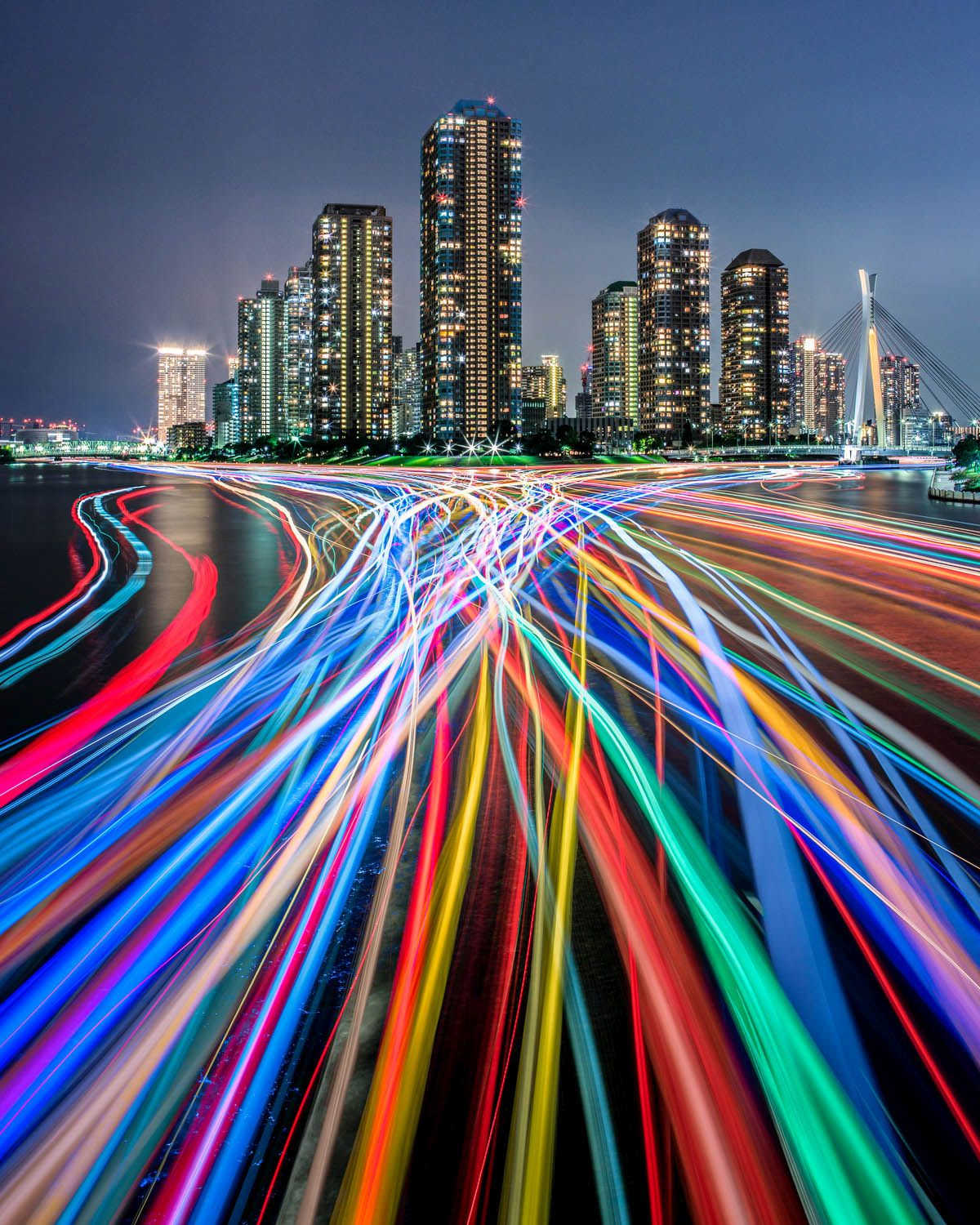 city urban time stack motion blur photography