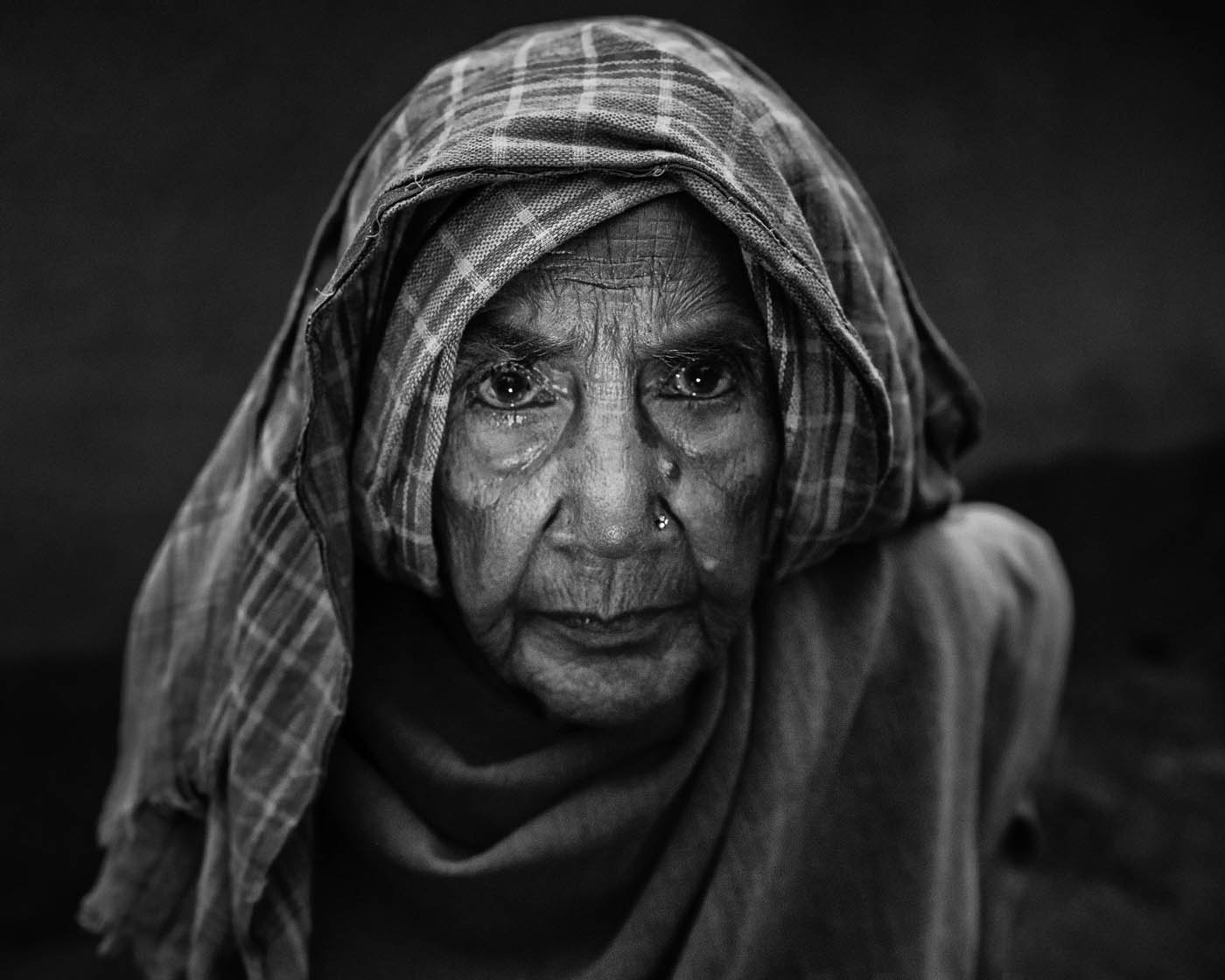 portrait photography old lady